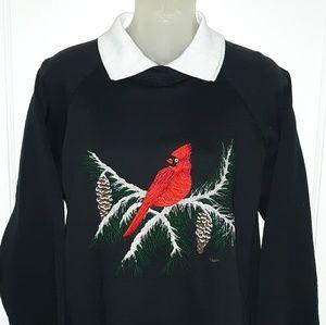 🔥VTG 80's Cardinal On Pine Branches Sweatshirt🔥